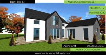 Architecte et constructeur pour extension et for Agrandissement maison ossature metallique