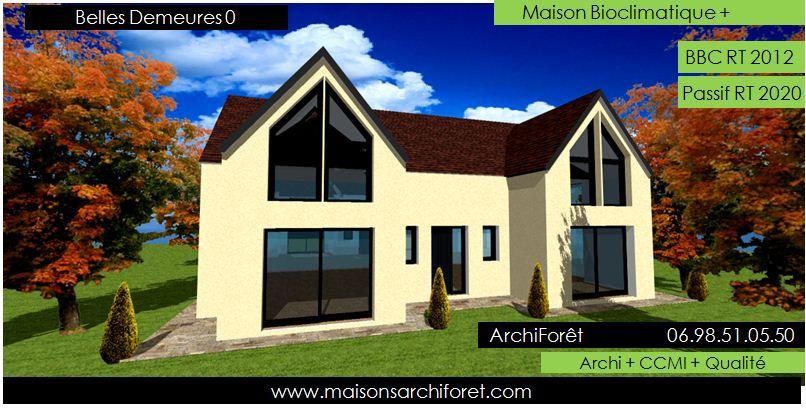 Belles demeures constructeur de maisons classique ossature bois - Belle architecture maison ...