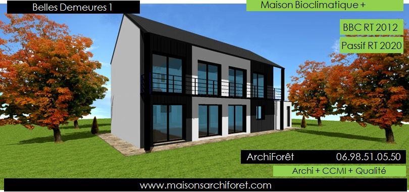 Belles demeures constructeur de maisons classique ossature for Balcon facade maison