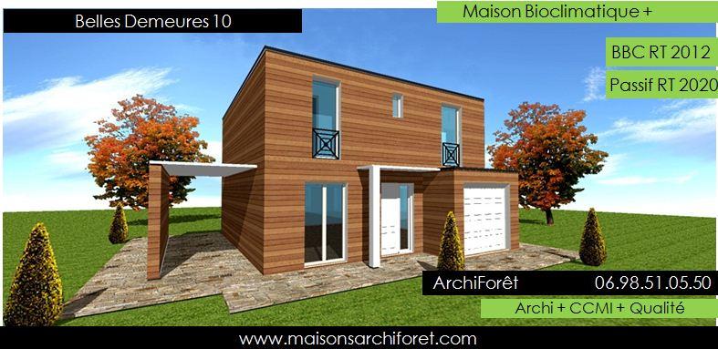 Belles demeures constructeur de maisons classique ossature for Maison bois toit plat