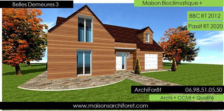 Belles demeures constructeur de maisons classique ossature bois for Plan maison avec combles