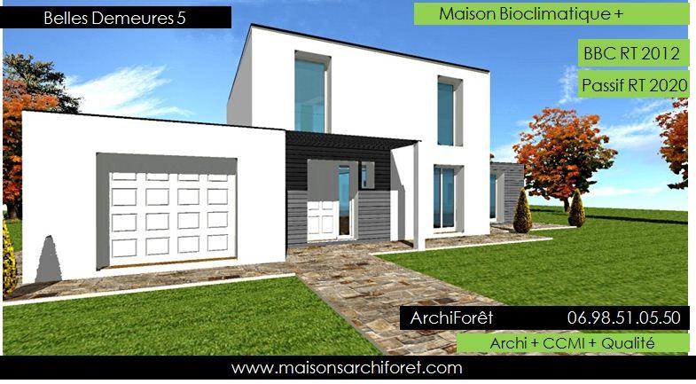 Belles demeures constructeur de maisons classique ossature for Modele maison toit plat
