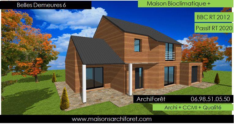 Belles demeures constructeur de maisons classique ossature for Maison bois classique