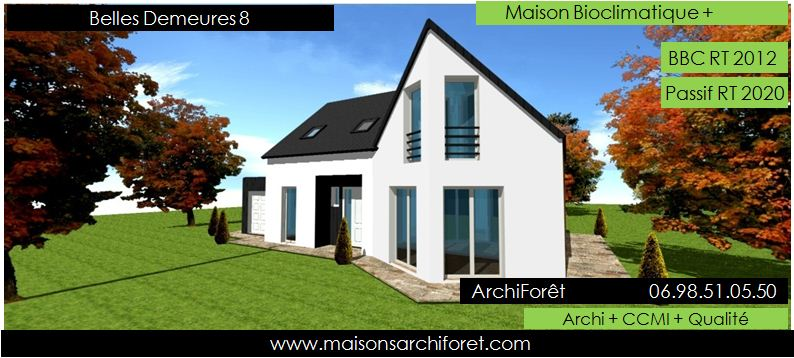 Plan et photo de maisons avec combles amenages ou for Plan de maison avec combles amenages