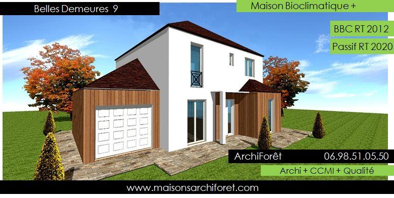 Belles demeures constructeur de maisons classique ossature for Modele maison toit 4 pentes