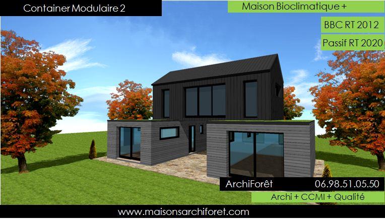 plan et photo de maison avec etage ossature bois par ...
