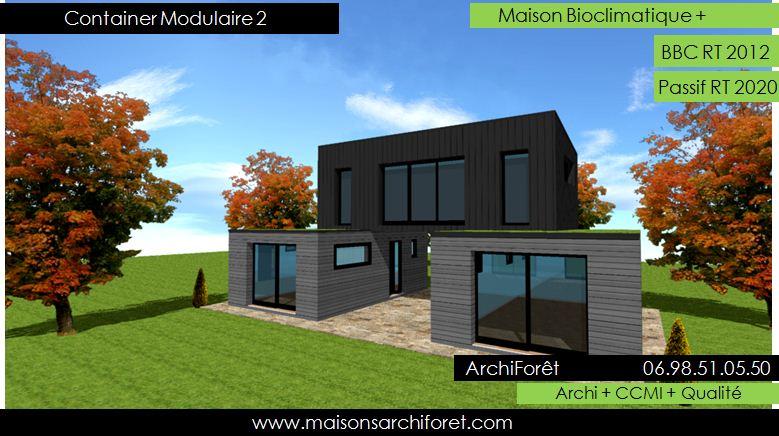 Maison container modulaire ossature bois d architecte constructeur plan et construction - Maison modulaire espagnole ...