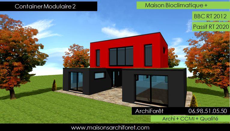 Maison toit plat et toiture terrasse bac acier ou siplast for Maison container belgique