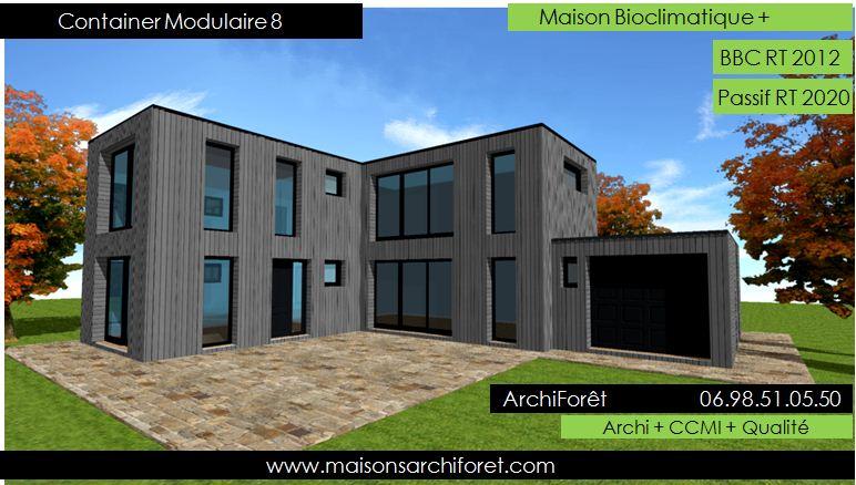 Toit Terrasse Maison Container : Maison Container Modulaire ossature bois d architecte
