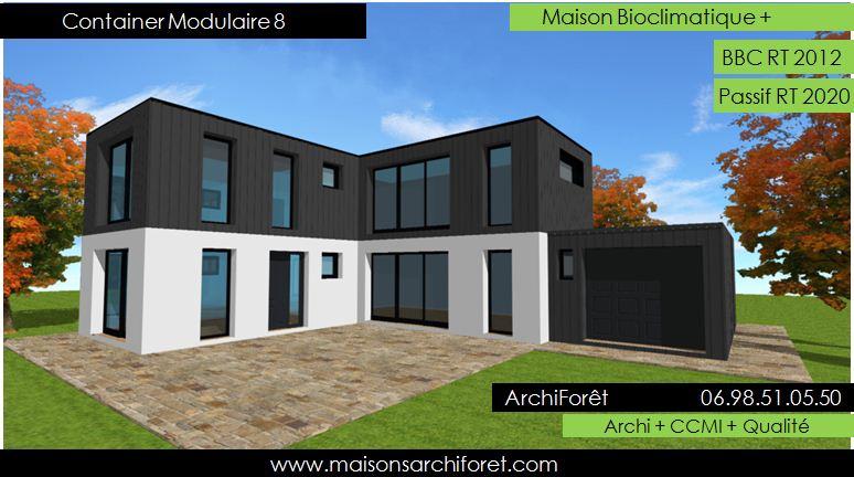 Maison toit plat et toiture terrasse bac acier ou siplast for Construction maison avec container