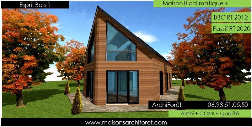 Plan et photo de maisons avec combles amenages ou for Constructeur de maison ossature bois en kit