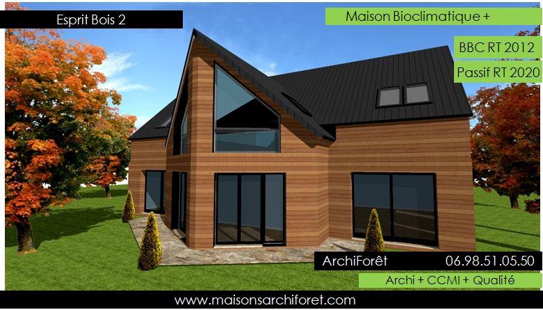 plan et photo de maisons avec combles amenages ou amenageables en ossature bois par architecte. Black Bedroom Furniture Sets. Home Design Ideas