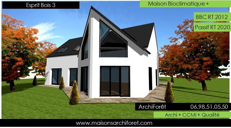 Esprit bois maison ossature bois demi ronde constructeur for Architecture de maison