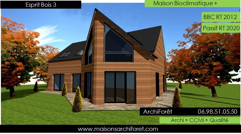 Plan et photo de maisons avec combles amenages ou for Table d architecte en bois