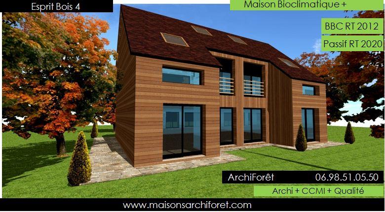Plan et photo de maisons avec combles amenages ou for Constructeur maison ossature bois 05