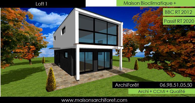 maison loft d architecte constructeur moderne contemporain. Black Bedroom Furniture Sets. Home Design Ideas