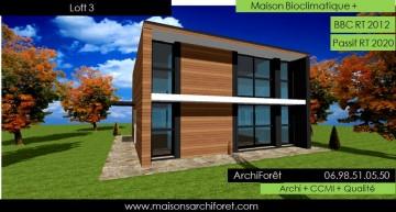 Maison loft d architecte constructeur moderne contemporain for Maison hyper moderne