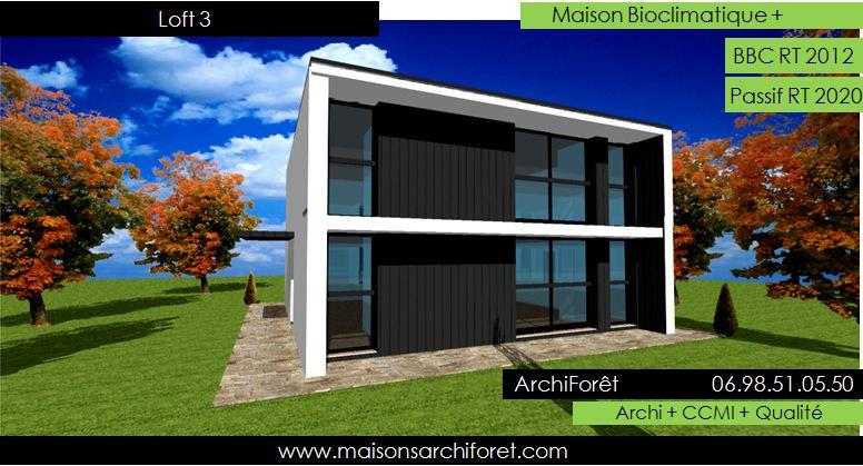 maison loft d architecte constructeur moderne contemporain et atelier d artiste style usine. Black Bedroom Furniture Sets. Home Design Ideas