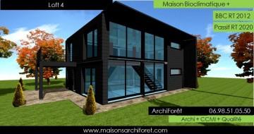 Maison loft d architecte constructeur moderne contemporain for Architecte ou constructeur