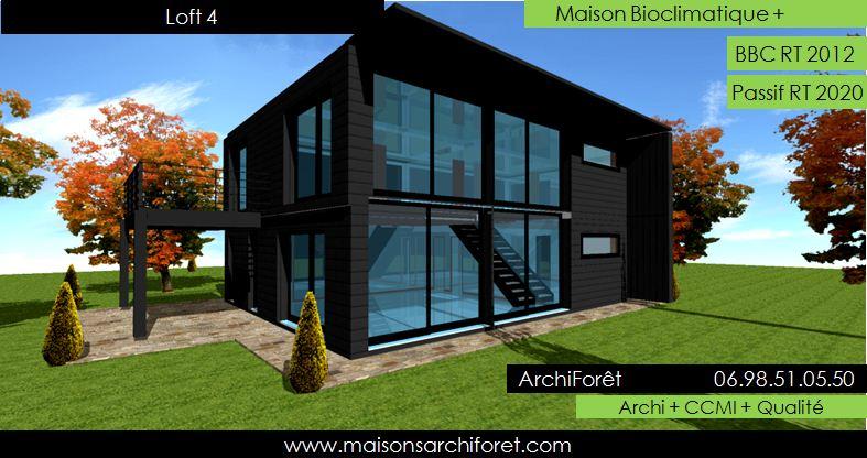 Maison loft d architecte constructeur moderne contemporain for Agrandissement maison architecte ou pas