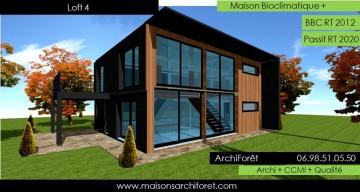 Maison loft d architecte constructeur moderne contemporain for Architecte constructeur