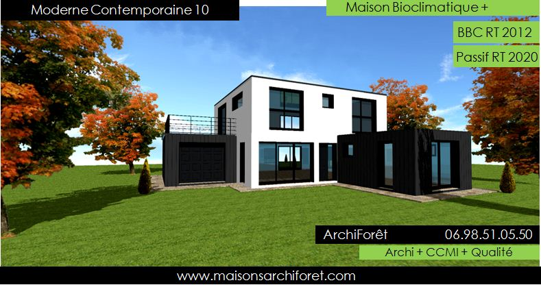 prix maison toit plat 100m2 maison toit terrasse caug 27. Black Bedroom Furniture Sets. Home Design Ideas