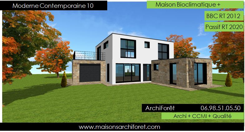 Maison contemporaine moderne et design d architecte for Maison moderne toit terrasse