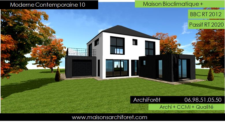 Maison contemporaine moderne et design d architecte for Maison moderne 4 pans