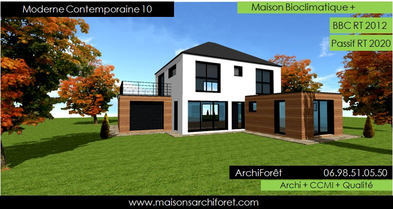 Maison contemporaine moderne et design d architecte for Architecture moderne belle maison