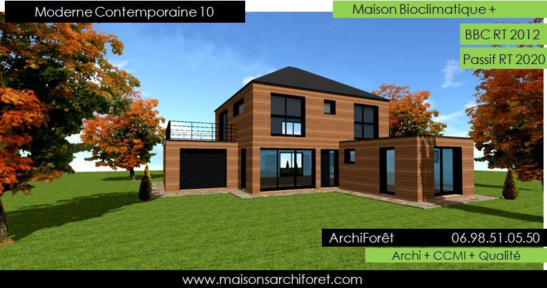 moderne contemporaine - Maison Moderne Bois