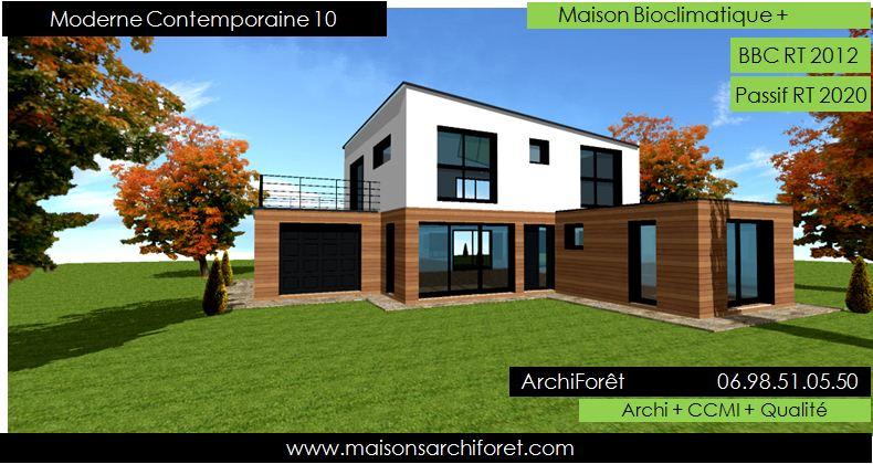 Maison toit plat et toiture terrasse bac acier ou siplast for Maison moderne toit pente