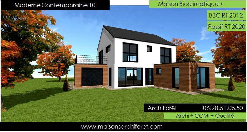 Maison contemporaine moderne et design d architecte for Petite maison bois contemporaine
