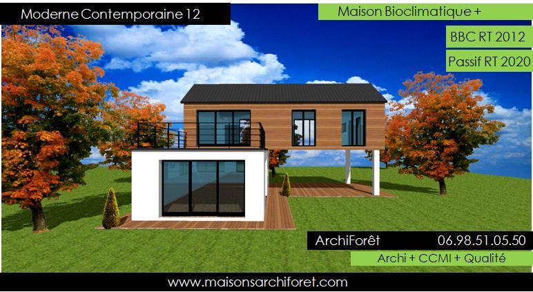 Célèbre Davaus.net = Plan Maison Moderne Ossature Bois ~ Avec des idées  KH71