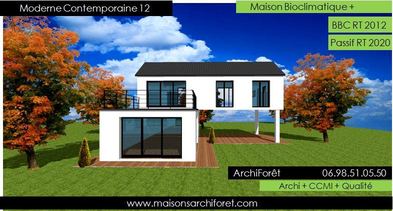 Maison contemporaine moderne et design d architecte for Maison ossature bois contemporaine prix