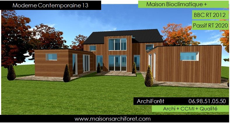 Maison Contemporaine Bois Architecte