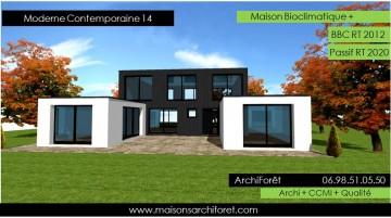 Constructeur de maison d architecte en ossature bois et - Constructeur maison contemporaine toit plat avec pasio ...
