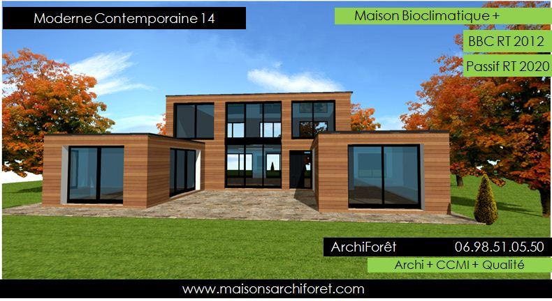 Maison toit plat et toiture terrasse bac acier ou siplast for Architecte constructeur