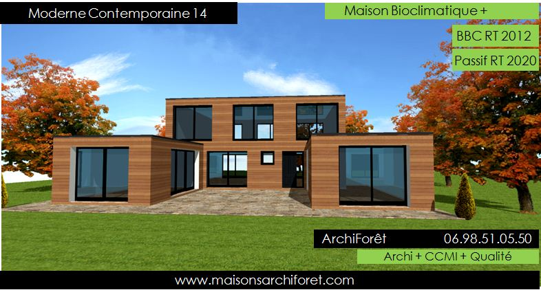 Maison contemporaine moderne et design d architecte for Modele de construction de maison moderne