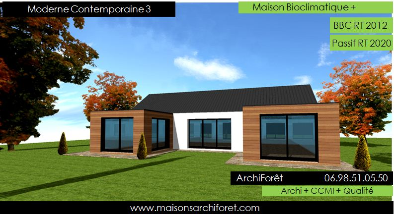 Maison contemporaine moderne et design d architecte for Maison moderne en u