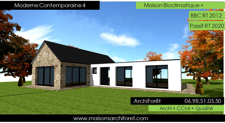 Maison contemporaine moderne et design d architecte for Photo maison en l