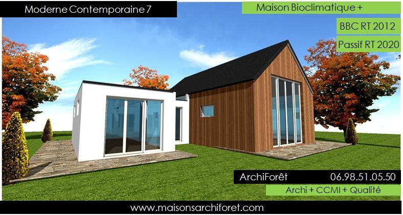 Maison contemporaine moderne et design d architecte for Construction maison architecte ou constructeur