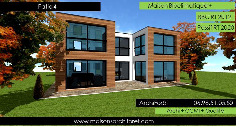 Maison A Plain Pied : Patios maison avec patio par architecte constructeur