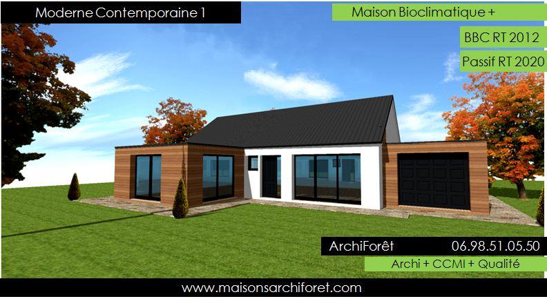 Zinc bacacier tuile - Maison contemporaine toit 4 pentes ...