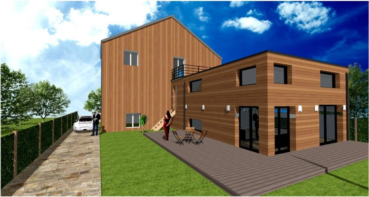 extension agrandissement maison ossature bois par votre architecte constructeur